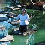 lady in water relaxing
