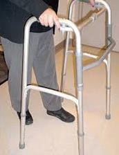 old man using walker for senior