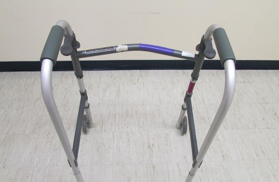 grey walking aid
